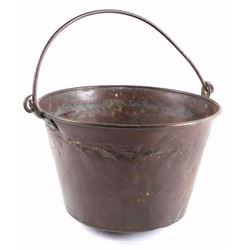 Early G. Hussey & Company Copper Bucket