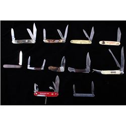 Large Collection Of Folding Pocket Knives