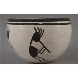 ACOMA POTTERY BOWL BY DELORIS LEWIS