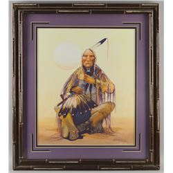 ORIGINAL NAVAJO PAINTING BY J YELLOWHAIR