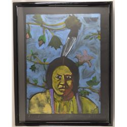 ORIGINAL NAVAJO PAINTING BY AARON FREELAND