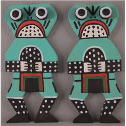 TWO HOPI FLAT DOLLS BY ROXI PELA