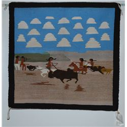 NAVAJO PICTORIAL WEAVING BY JESSIE BEGAY