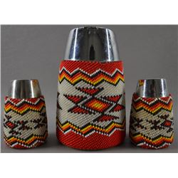 THREE ZUNI BEADED ITEMS