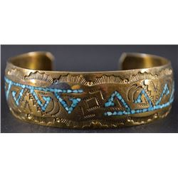 BRASS BRACELET FROM NAKAI