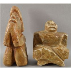 TWO STONE FIGURES
