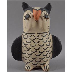 COCHITI POTTERY OWL BY SEFERINA ORTIZ