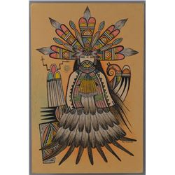 ORIGINAL HOPI PAINTING BY RON KOOPEE