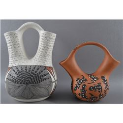TWO ACOMA WEDDING VASES