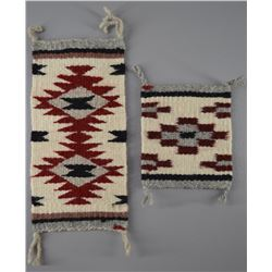 TWO MINITURE NAVAJO TEXTILES