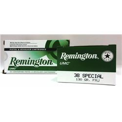 2 Boxes of Remington UMC 38 Special.