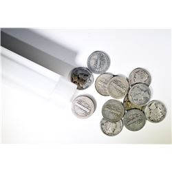 MERCURY DIME ROLL - $5 FACE - 90% SILVER