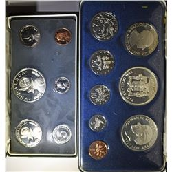 1974 Jamaica 8 Coin Proof Set - 1.5712 Actual Silver Weight & 1973 BALBOA SILVER
