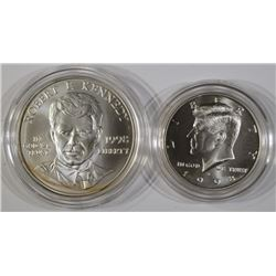 1998 S John, Robert F Kennedy Commemorative 2 Coin Set Silver Half Dollar $1 50C