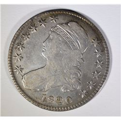 1820 CAPPED BUST HALF DOLLAR, VF  BETTER DATE