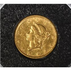 1852 $1.00 GOLD, XF