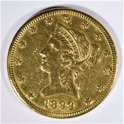 1899-S $10.00 GOLD LIBERTY, XF+