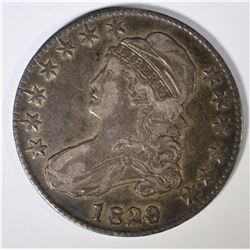 1829/7 CAPPED BUST HALF DOLLAR, XF  BEAUTIFUL ORIGINAL COIN