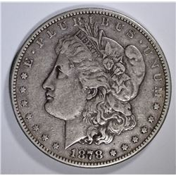 1878-CC MORGAN SILVER DOLLAR, XF  KEY DATE