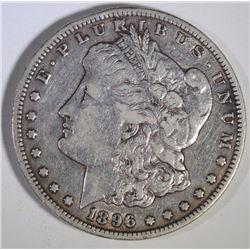 1896-S MORGAN SILVER DOLLAR, XF+  ORIGINAL, KEY!