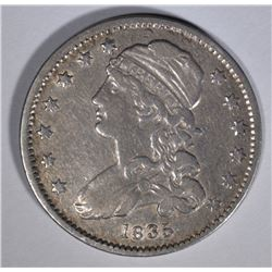 1835 CAPPED BUST QUARTER VF/XF