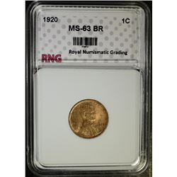 1920 LINCOLN CENT, RNG CHOICE BU BR