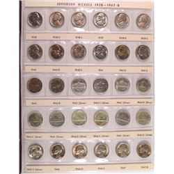 JEFFERSON NICKEL SET, 1938 - 1994 with PROOFS! - GEM BU & PROOF  - 157 COINS