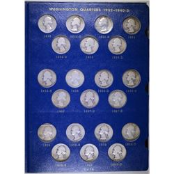 1932 - 1964 WASHINGTON QUARTER SET - NICE CIRC COMPLETE, '32-D G/VG, '32-S VF/XF