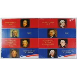 2007 & 2009 U.S. PRESIDENTIAL UNCIRCULATED SETS SEALED IN ORIG MINT PACKAGING