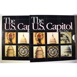 ( 2 ) 1994 U.S. CAPITOL PROOF COMMEMORATIVE SILVER DOLLARS IN SPECIAL PACKAGING