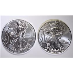 2015 & 2017 GEM BU AMERICAN SILVER EAGLES