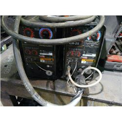TWO LINCOLN LN-25 WIRE FEEDERS