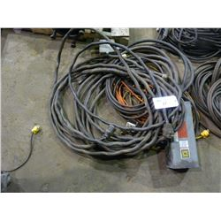 LOT OF ELECTRICAL CORDS
