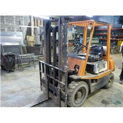 TOYOTA LPG FORKLIFT WITH 2 STAGE MAST AND PNEUMATIC TIRES