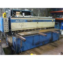 "BARCORP MODEL HGS 3100X6 (2001) 1/4"" X 10' HYDRAULIC SHEAR WITH FRONT OPERATED BACK GAUGE AND FOOT"
