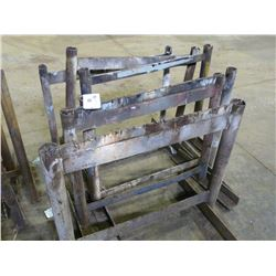 SIX STEEL SAW HORSES