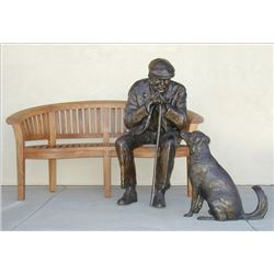 Old Man and Dog (with bench)