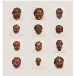 Collection of 12 Faces
