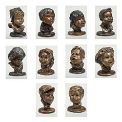 Collection of 10 Thumbnail Headstudies