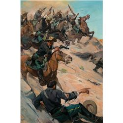 Advancing Cavalry Soldiers