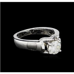 0.86 ctw Diamond Ring - 18KT White Gold