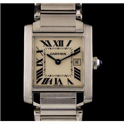 Cartier Stainless Steel Tank Francaise Watch