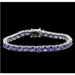 14.70 ctw Tanzanite Bracelet - 14KT White Gold