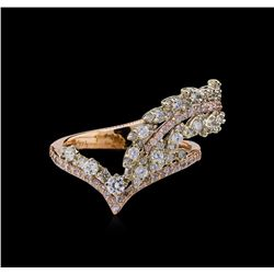 1.13 ctw Diamond Ring - 14KT Two-Tone Gold