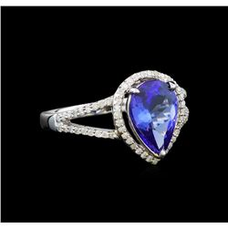 14KT White Gold 2.32 ctw Tanzanite and Diamond Ring
