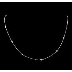 0.36 ctw Diamond Necklace - 14KT White Gold