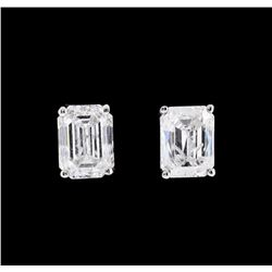2.01 ctw Diamond Earrings - 14KT White Gold
