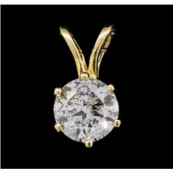0.50 ctw Diamond Pendant - 14KT Yellow Gold