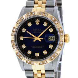 Rolex Two-Tone Diamond DateJust Men's Watch
