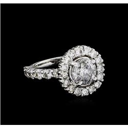 3.99 ctw Diamond Ring - 18KT White Gold